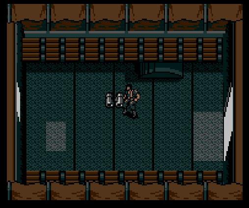 Metal Gear (MSX) - Snake in small room