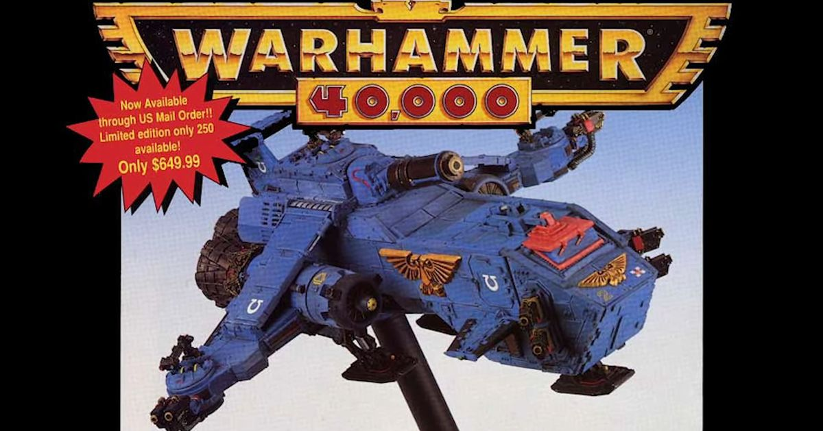 Check out the original Thunderhawk Gunship, Warhammer 40K's most ridiculous model - Polygon
