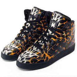 "<strong>Adidas x Jeremy Scott</strong> Instinct Hi Leopard Shoes in Black/Black, <a href=""http://www.adidas.com/us/product/mens-originals-instinct-hi-leopard-shoes/IEO30?cid=D65985&breadcrumb=1z13071Z1z11zrfZ1z132gn"">$200</a>"