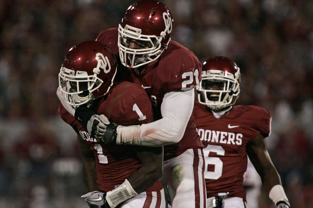 Its pretty close to unanimous among the Big 12 bloggers that at this point OU is the top team in the conference. (Photo by Brett Deering/Getty Images)