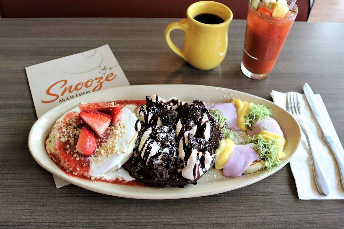 A pancake flight from Snooze