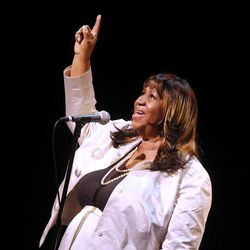 Aretha Franklin performs during A Tribute to Marvin Hamlisch, a memorial concert, at The Juilliard School's Peter Jay Sharp Theater, Tuesday, Sept. 18, 2012 in New York.