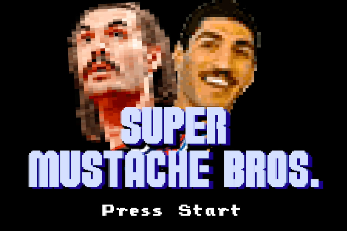 Screenshot from 'Super MustacheBros.'