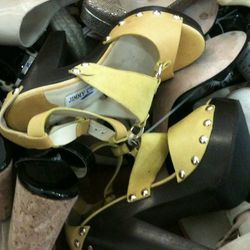 Yellow sandals, size 38