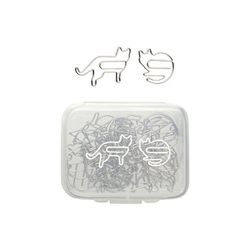 """For the office cat lady:  <b>MUJI</b> Cat Paperclips, <a href=""""http://www.muji.us/store/stationery/desk-acc/paperclips-cat.html"""">$6.95</a>"""