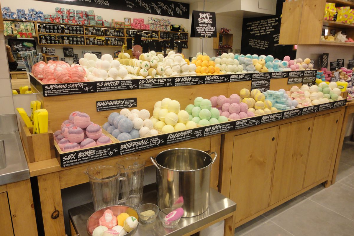 Inside an existing store, image courtesy of Lush.