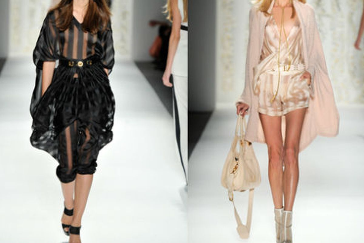 Two looks from Rachel Zoe's spring collection