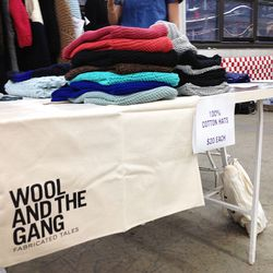 Wool and the Gang had $20 hats and $70 sweaters.