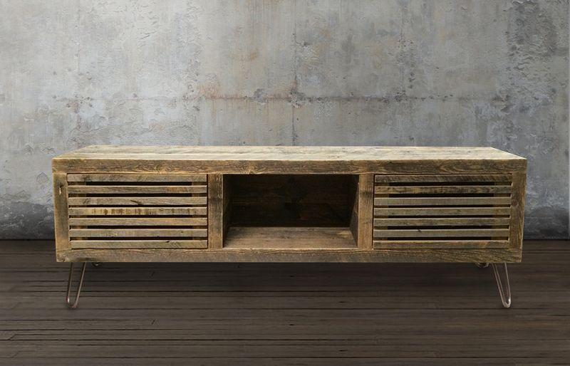 Reclaimed wood media console, $645 - Etsy Furniture Shops: 7 Best Stores To Check Out Now - Curbed