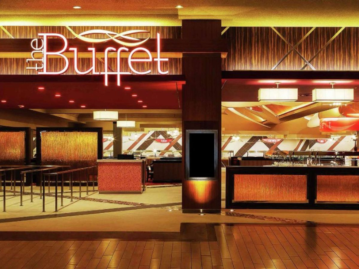 The exterior of a buffet
