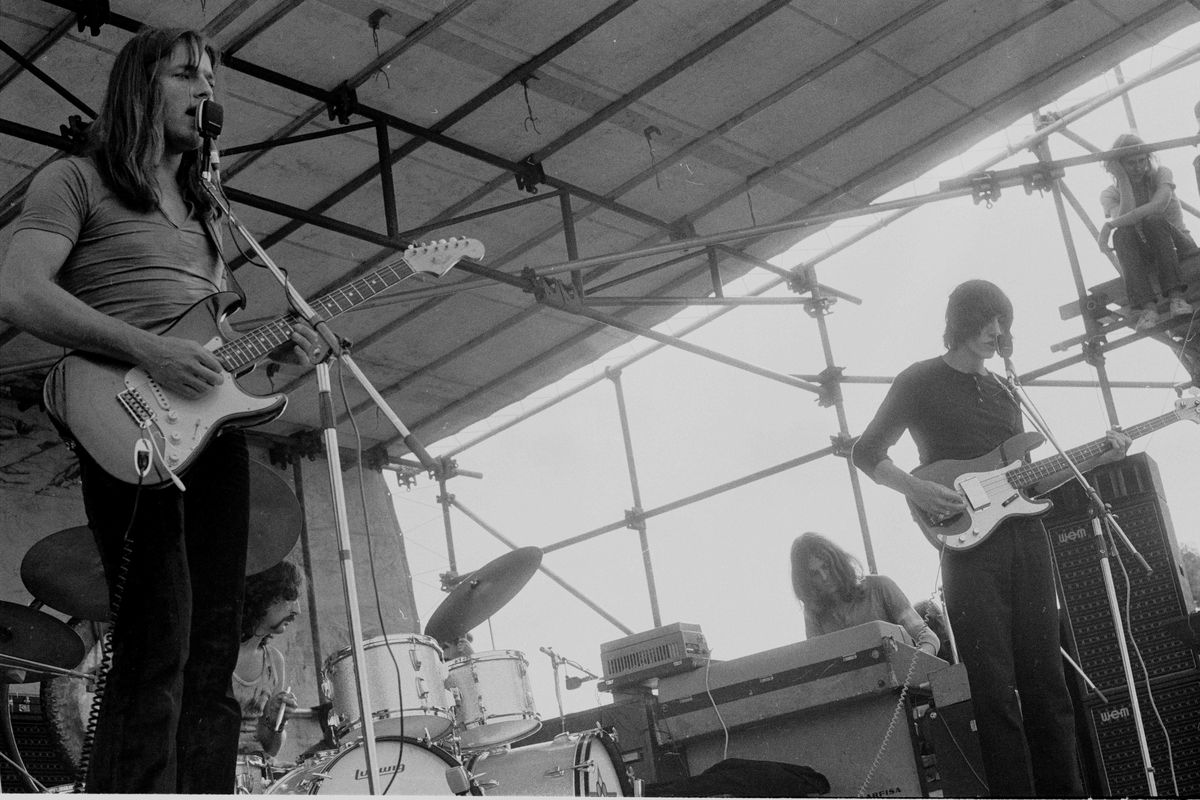 Pink Floyd On Stage In Hyde Park