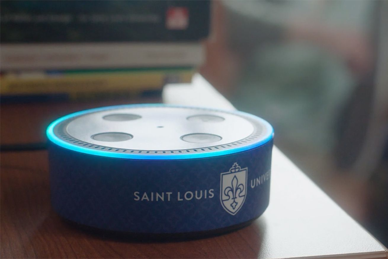 saint louis university is placing 2 300 echo dots in student living spaces