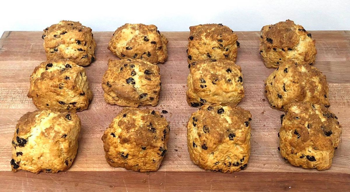Mini currant scones at Andytown