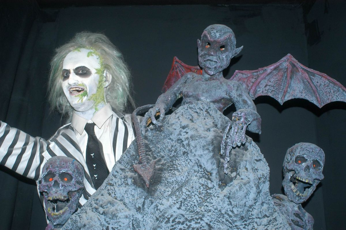 Michael Keaton als 'Beetle Juice' Wax Museum, Wachsfigur, Los An