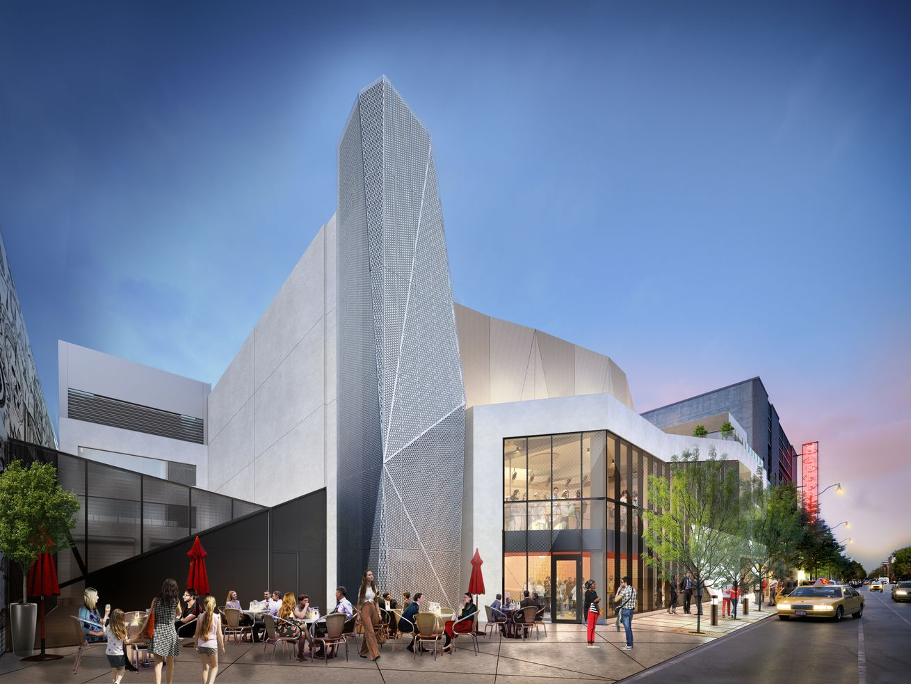 Steppenwolf Theatre's new 50,000-square-foot theater and education center (shown in rendering) will debut on Halsted Street as part of the 2021-2022 season.