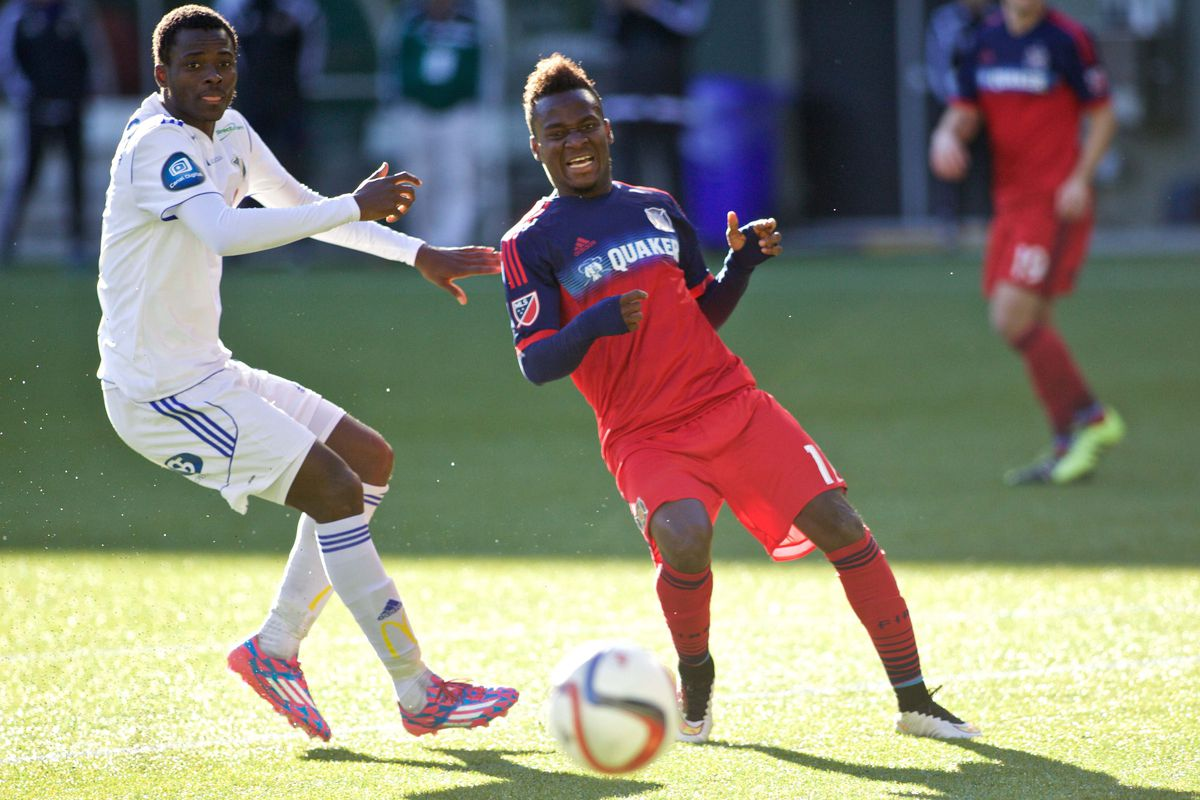 One to watch: Chicago Fire striker David Accam could improve his club's fortunes this season.