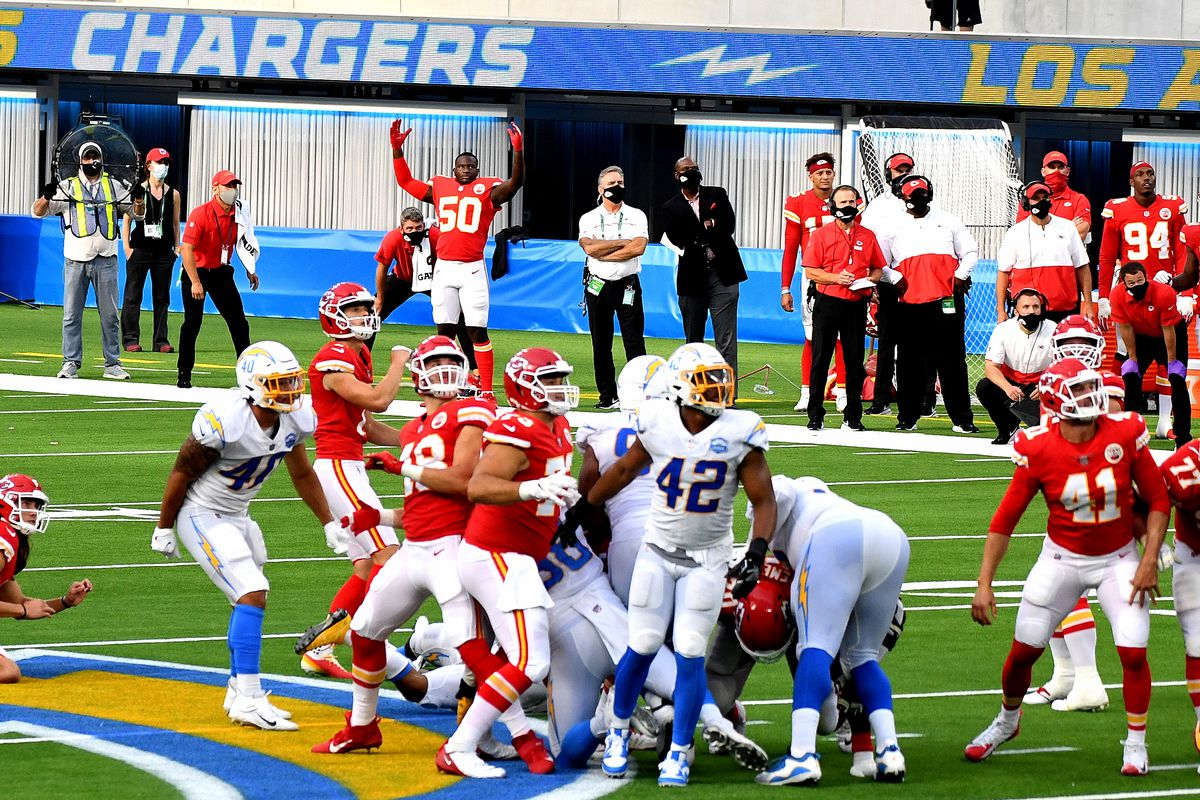 Kansas City Chiefs defeated the Los Angeles Chargers 23-20 in over time during an NFL game.
