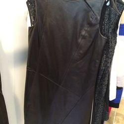 Leather dress, $350