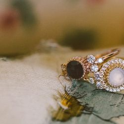 """""""Sometimes you just want to make stuff that's really pretty. I think that there is a hole in the market for affordable engagement rings—a lot of people are looking for something unique. The main idea behind my ceremonial line was to use a nontraditional s"""
