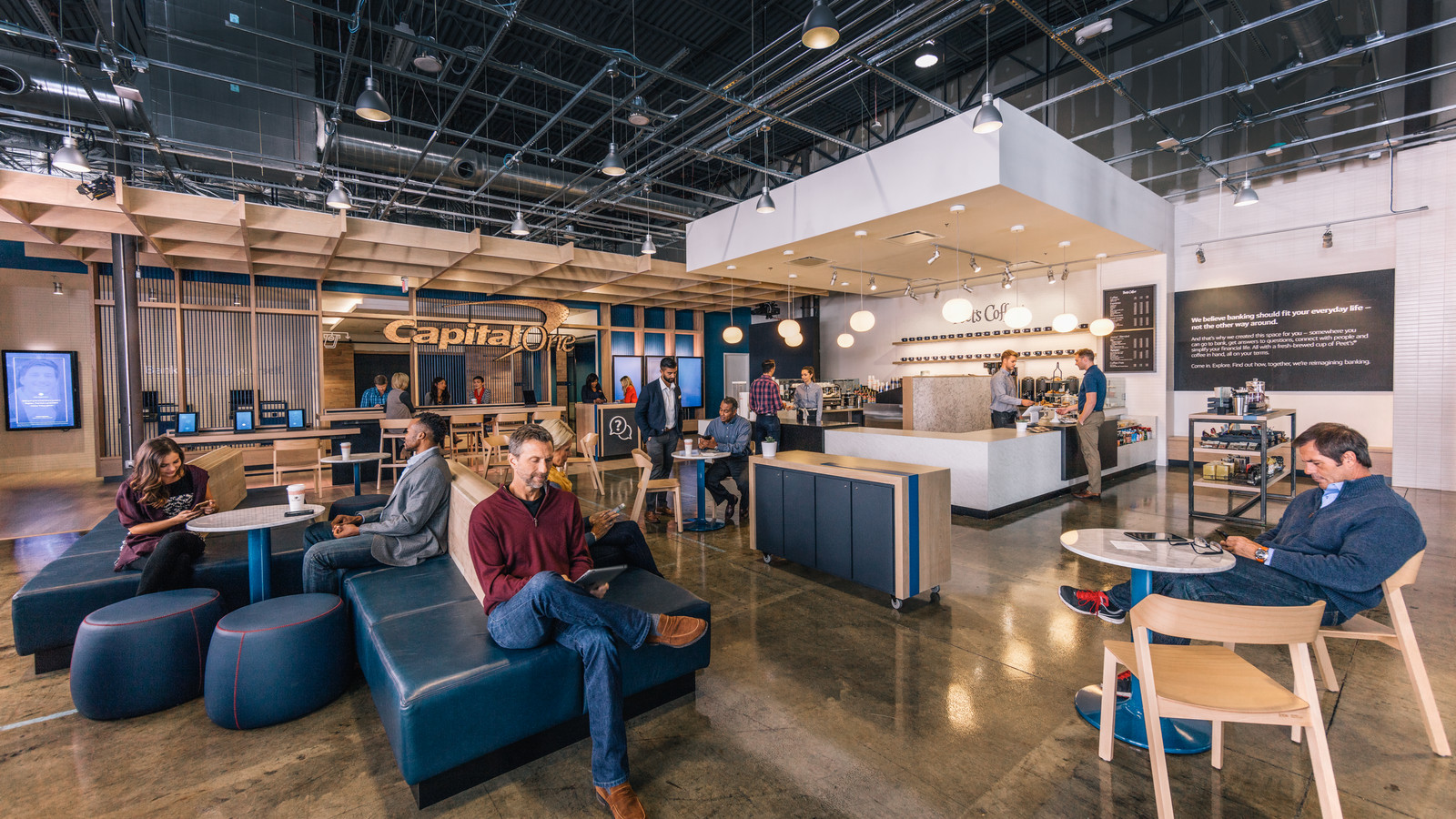 Capital One Is Opening Coffee Shop And Bank Hybrids In