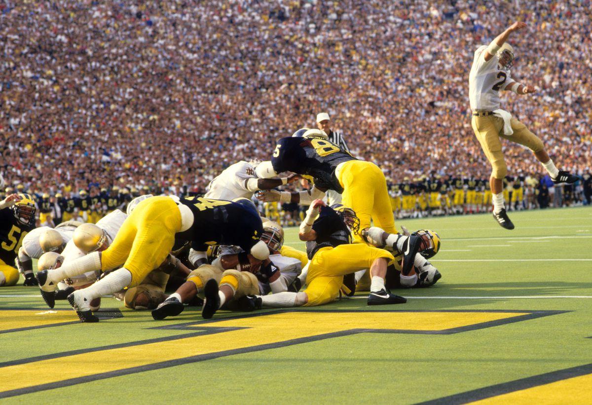 University of Michigan vs University of Notre Dame