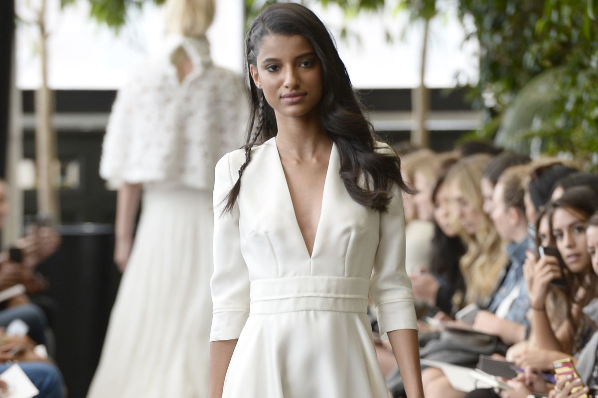 Delphine Manivet Fall 2015 Bridal Collection. Photo: Getty Images
