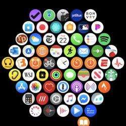Navigating the Apple Watch grid may be difficult.