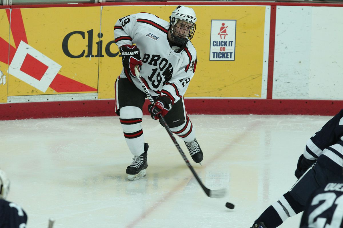 Matt Lorito (pictured) and Brown will look to knock off Providence in the annual showdown between the two schools from Rhode Island's capital city.