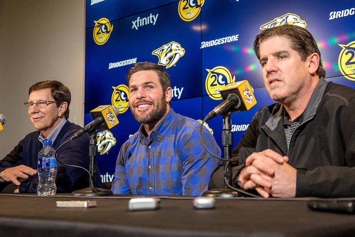 Nashville Predators Mike Fisher return