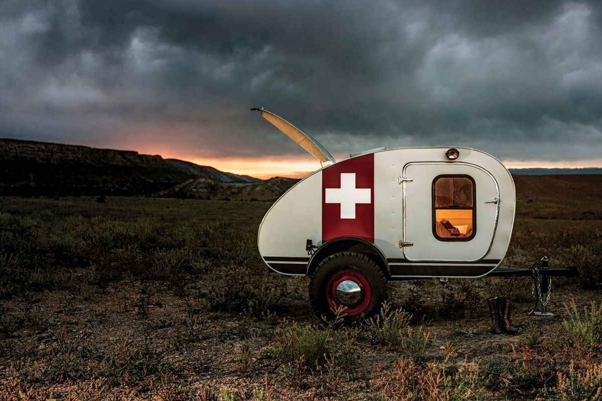 A Teardrop Camping Trailer By Vintage Overland All Photos Courtesy Of