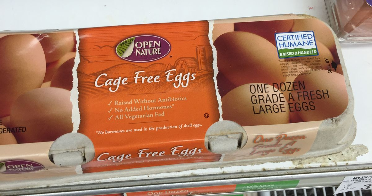 A Certified Humane carton of eggs at a Safeway in Washington, DC.