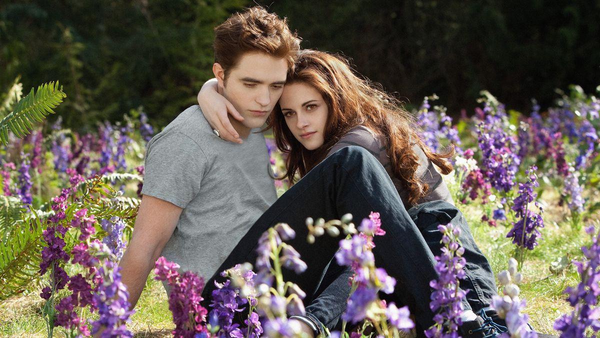 Robert Pattinson and Kristin Stewart in Twilight: Breaking Dawn Part 2.