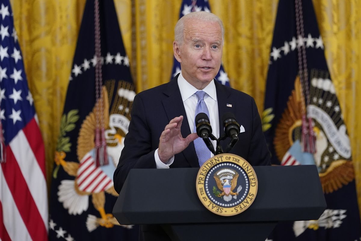 President Joe Biden speaks about vaccine requirements for federal workers in the East Room of the White House in Washington, Thursday, July 29, 2021.