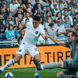 July 3,2019 - St Paul Minnesota, an MLS match between Minnesota United vs San Jose Earthquakes match at Allianz Field. (Photo by Tim C McLaughlin)