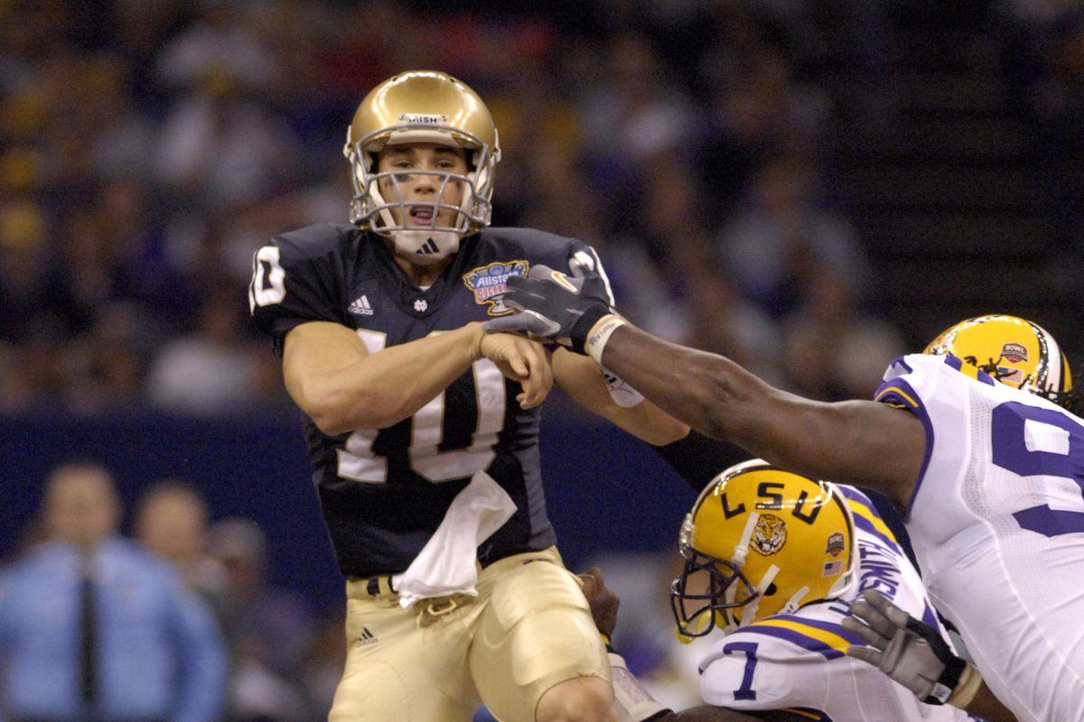 NCAA Football - 2007 AllState Sugar Bowl - Notre Dame vs LSU