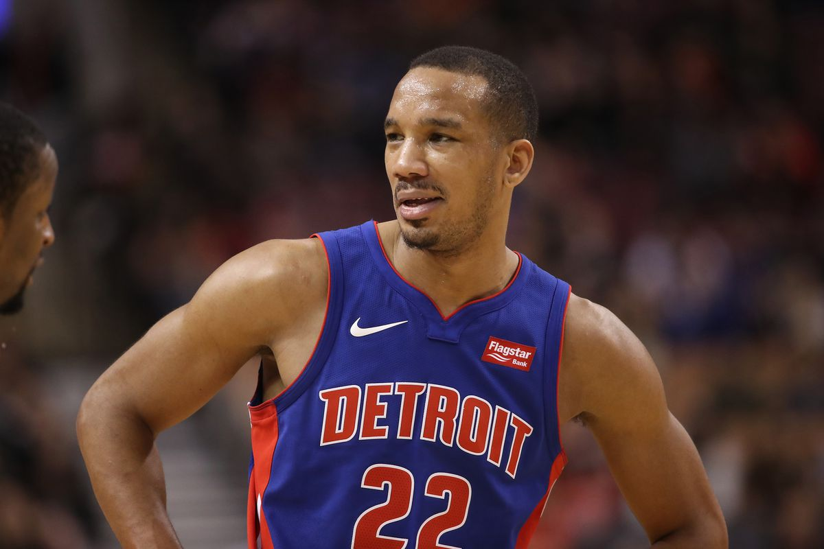 Avery Bradley with his hands on his hips