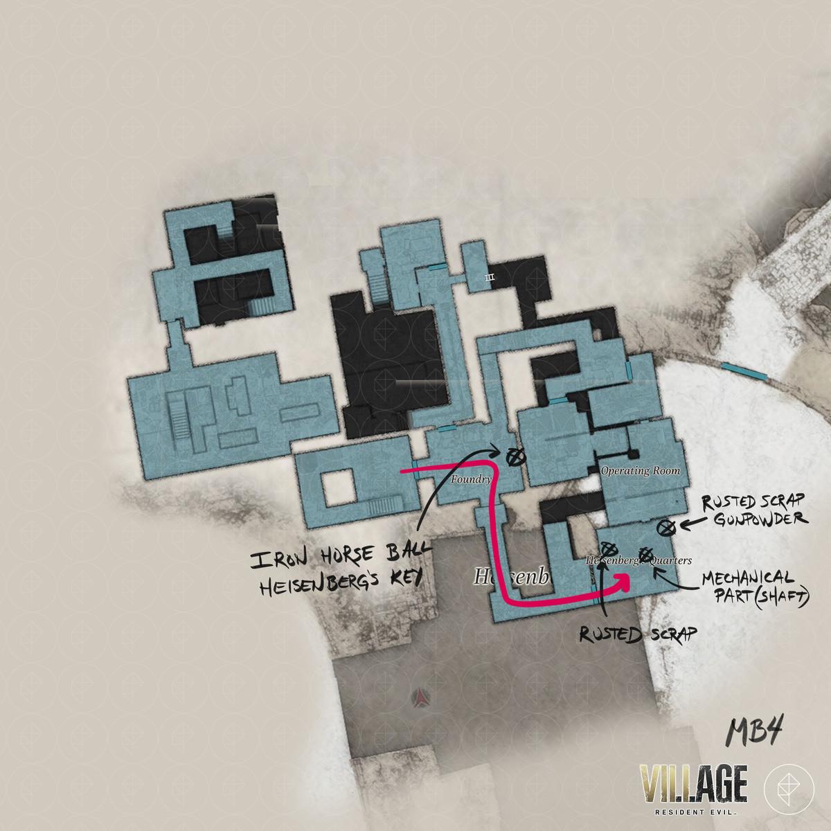 Resident Evil Village walkthrough part 15: Iron Horse Ball and Heisenberg's Key