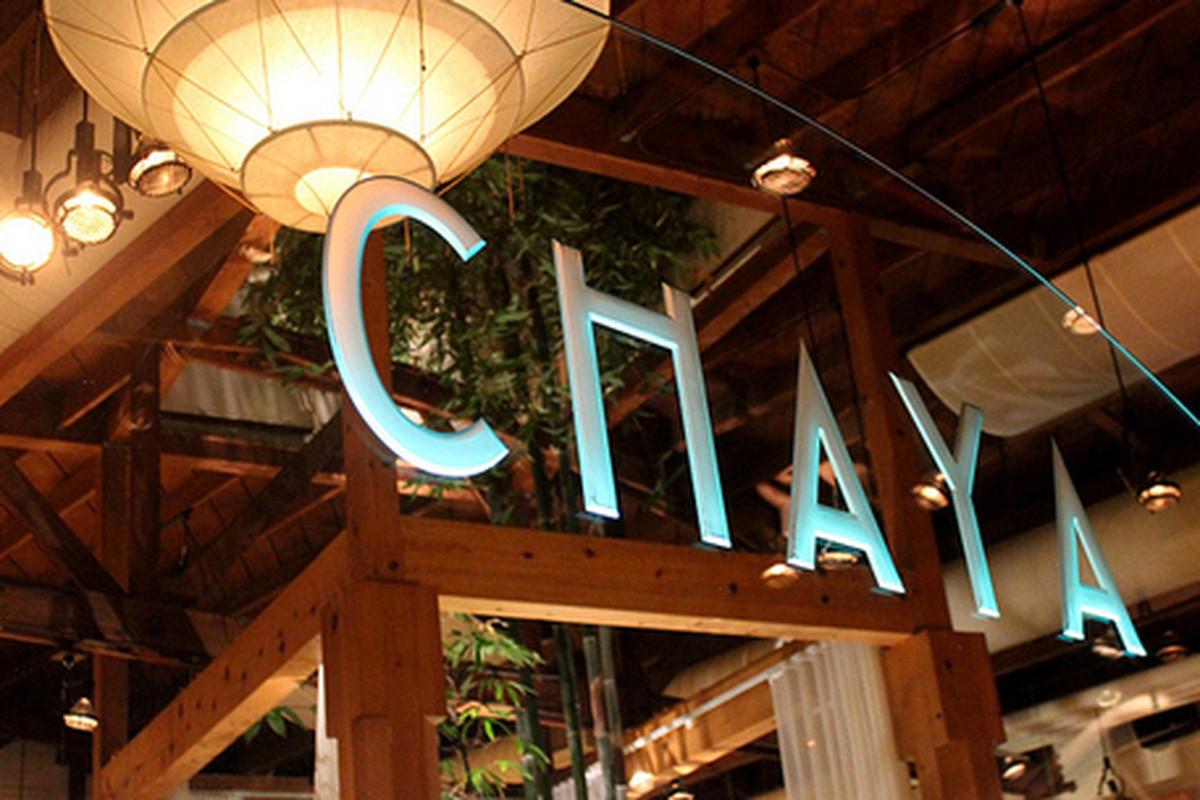 Inside Chaya, Beverly Hills.