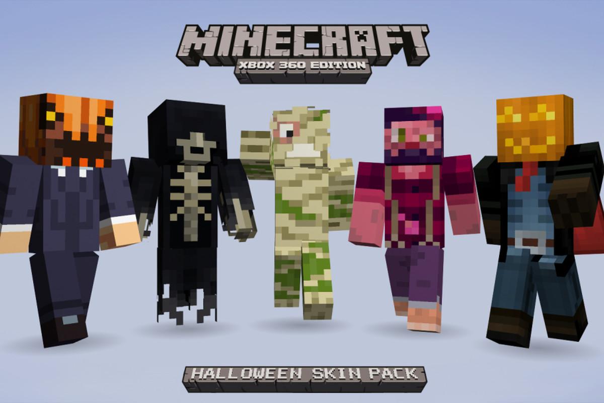 Minecraft Xbox 360 getting 55 Halloween costume skins tomorrow ...