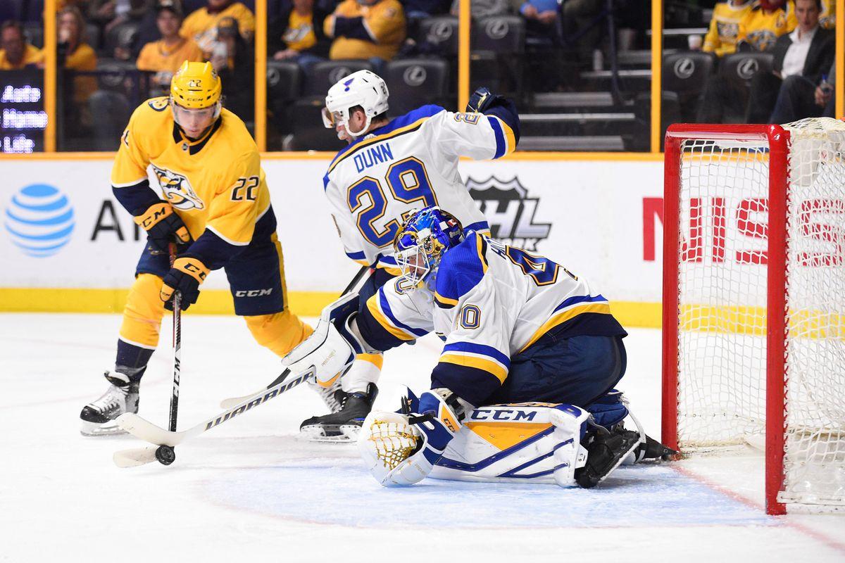 NHL: St. Louis Blues at Nashville Predators