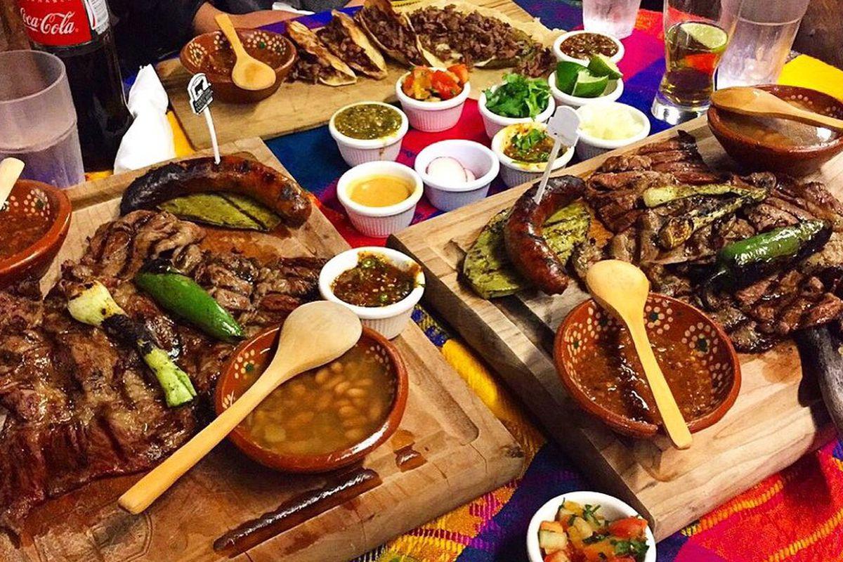 A spread at Asadero Sinaloa's Kent location.