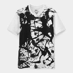 "<b>Uniqlo</b> Jackson Pollock White Splatter T-Shirt, <a href=""http://www.momastore.org/museum/moma/ProductDisplay_UNIQLO%20Jackson%20Pollock%20White%20Splatter%20Tshirt_10451_10001_180243_-1_26690_26694_172278"">$19.90</a> at <b>MoMA</b>"