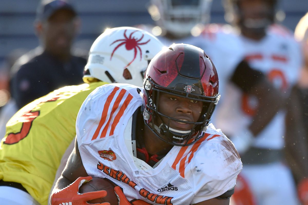official photos ca73a ec0e5 2018 NFL Draft Results: Seattle Seahawks select RB Rashaad ...