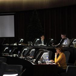Foreign journalists wait for news at the press center in Pyongyang, North Korea, Friday, April 13, 2012. North Korea fired a long-range rocket early Friday, South Korean defense officials said, defying international warnings against a launch widely seen as a provocation.