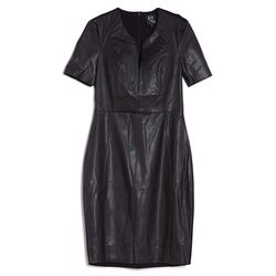 McQ Alexander McQueen faux-leather dress, $228.50 (Original price: $545; First Markdown: $381.50)