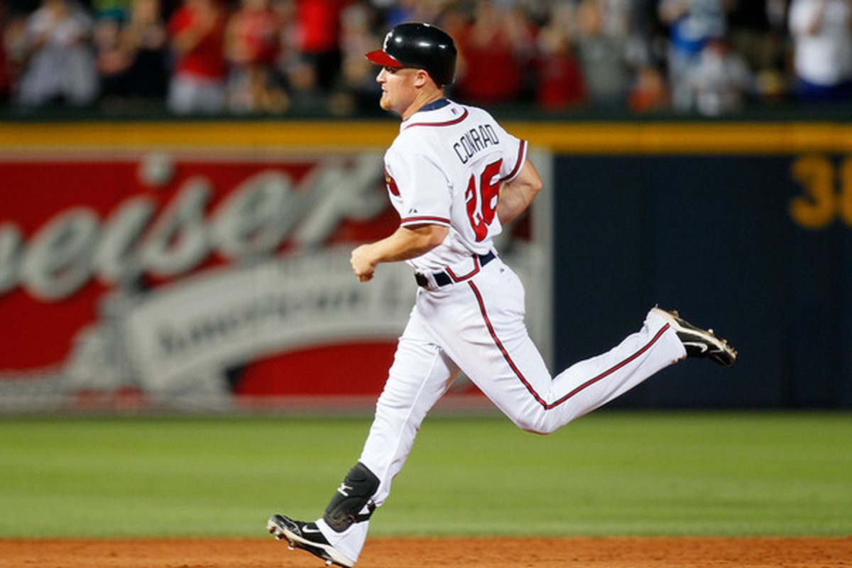 Not that anyone's forgotten Chipper, but... Brooks Conrad is awesome.