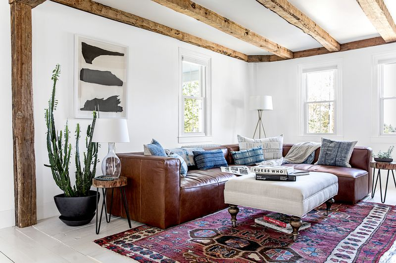 a Cape Cod-style remodel in Cumberland Foreside, ME, living room