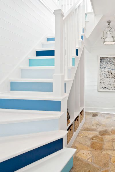 Use Paint To Create Upbeat Stair Risers This Old House