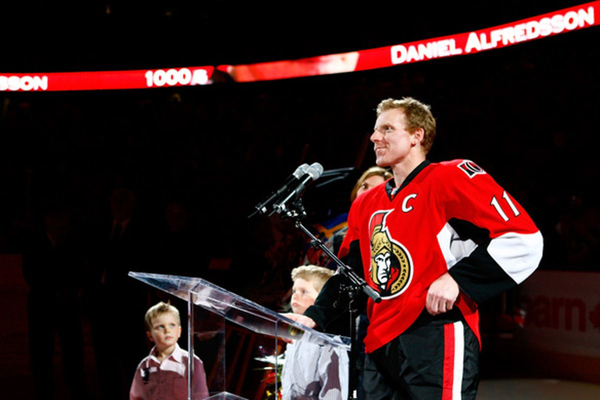 """""""Go ahead and write it, I guarantee we'll win the Stanley Cup"""" - Daniel Alfredsson's legacy."""