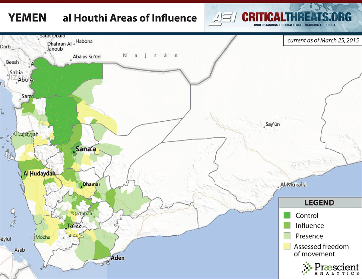 Houthi control March 25